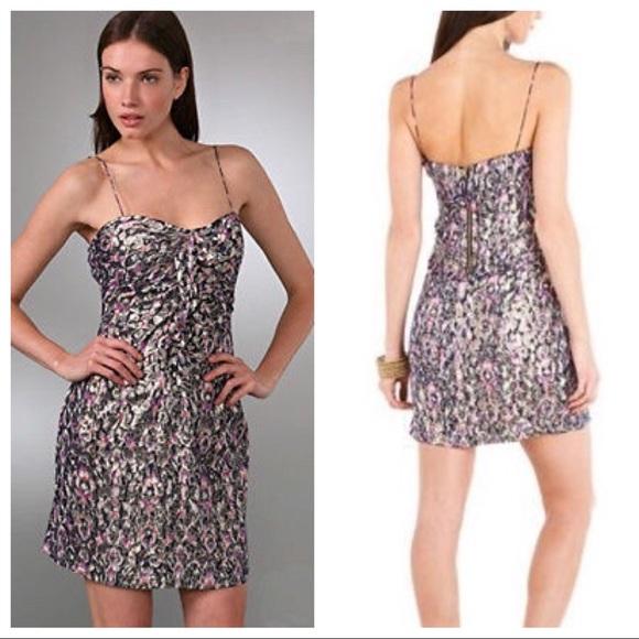 Elie Tahari Dresses & Skirts | Elie Tahari Nia Metallic Cocktail ...